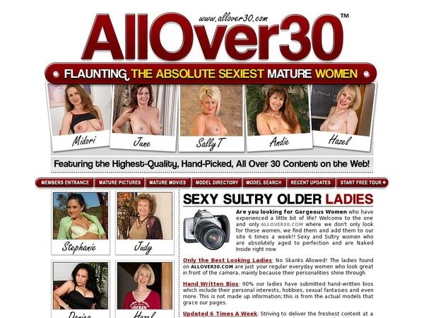 All Over 30 Original Parola D'ordine Gratuito