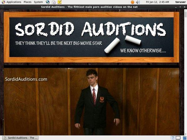 Sordid Auditions Account Blog