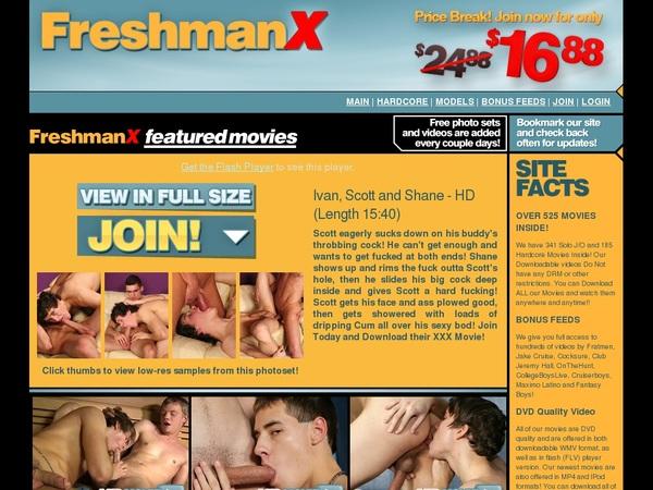 Freshman X Account Passwords